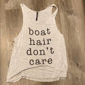 Boat hair don't care tank
